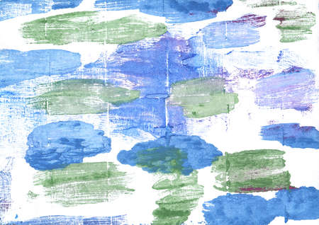 Hand-drawn abstract watercolor. Used colors: White, Jordy blue, Baby blue eyes, United Nations blue, French sky blue, Baby powder, Cambridge Blue, Cyan-blue azure, Ash grey