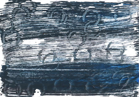 cadet blue: Hand-drawn abstract watercolor. Used colors: Gunmetal, White, Japanese indigo, Charcoal, Slate gray, Onyx, Arsenic, Yankees blue, Cadet grey, Metallic blue, Independence