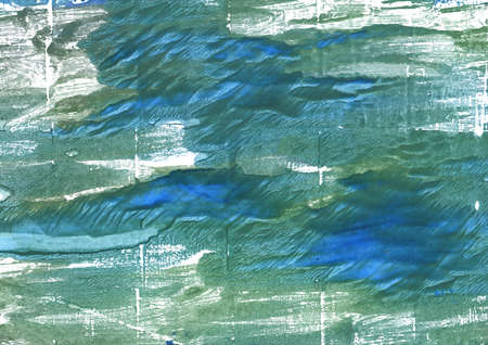 vibrant paintbrush: Hand-drawn abstract watercolor. Used colors: Wintergreen Dream, Myrtle green, Hookers green, Teal blue, White, Ming, Deep aquamarine, Amazon, Green Sheen, Oxley, Cadet blue Stock Photo