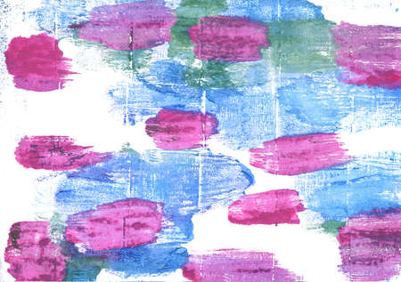 alice band: Hand-drawn abstract watercolor. Used colors: White, Jordy blue, Light sky blue, Super pink, Pale magenta, Deep mauve, Azureish white, French sky blue, Orchid, Pearly purple Stock Photo