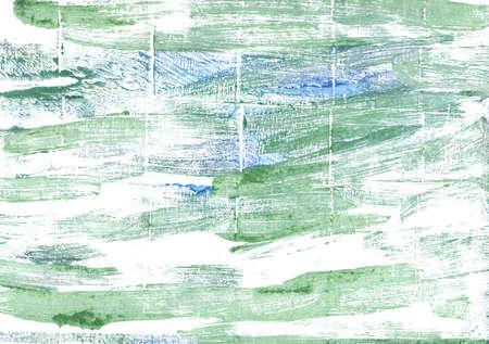 moss: Hand-drawn abstract watercolor. Used colors: White, Sea Foam Green, Turquoise green, Eton blue, Mint cream, Dark sea green, Cambridge Blue, Azure mist, Columbia Blue
