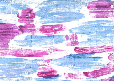 Hand-drawn abstract watercolor. Used colors: White, Baby blue eyes, Pale cornflower blue, Jordy blue, Deep mauve, Fresh Air, Baby powder, Light cobalt blue, Magnolia