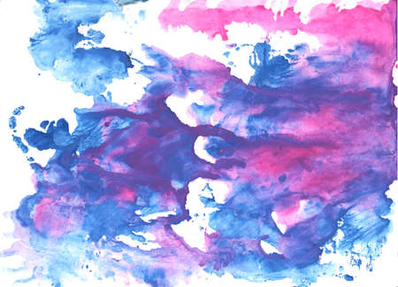 fuchsia color: Hand-drawn abstract watercolor. Used colors: White, Han blue, Liberty, United Nations blue, Royal purple, Tufts Blue, Toolbox, Slate blue, Light sky blue, Lavender rose
