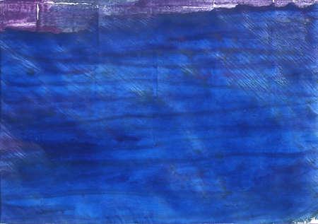 抽象的な水彩の手描き。色を使用: デニム ブルー、セルリアン ブルー、エジプト青、新しい車、バイオレット ブルー、中国青聖パトリックの青、ハ