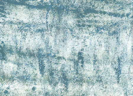 Hand-drawn abstract watercolor. Used colors: Bright gray, Azureish white, Steel Teal, Columbia Blue, Wintergreen Dream, Pastel blue, Morning blue, Dark electric blue Stock Photo