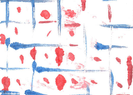 Hand-drawn abstract watercolor. Used colors: White, Begonia, Pastel red, Light carmine pink, Tulip, Baby powder, Carmine pink, Ceil, Light cobalt blue, Mauvelous
