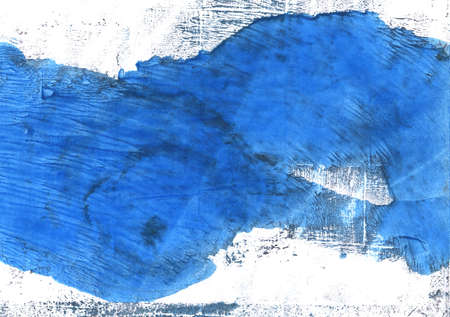 Handgetekende abstracte aquarel. Gebruikte kleuren: Wit, Helder marineblauw, Bleu de France, Denim, Tufts Blue, Blue Jeans, Brilliant azure, Lapis lazuli, Very light azure