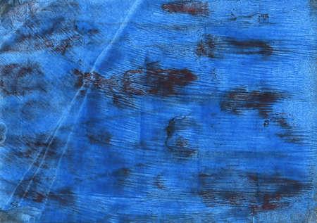 抽象的な水彩の手描き。使用した色: 明るいネイビー ブルー、デニム、タフツ ブルー、ブルー ・ ド ・ フランス、シアン コバルト ブルー、ラピス