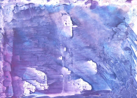 Hand-drawn abstract watercolor. Used colors: Toolbox, Ube, Maximum Blue Purple, Vista blue, Ceil, White, Soap, Light cobalt blue, Royal purple, Blue Bell, Liberty Stock Photo
