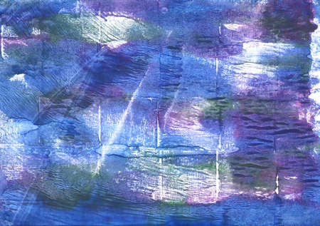 Hand-drawn abstract watercolor. Used colors: Han blue, Liberty, American blue, Ube, Toolbox, Blue yonder, Dark slate blue, United Nations blue, Chinese blue, Metallic blue