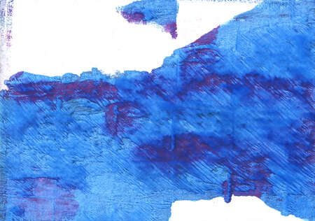 Hand-drawn abstract watercolor background. Used colors: White, Bleu de France, Blue Jeans, Bright navy blue, Royal blue, New car, Tufts Blue, Blueberry, Cerulean blue Stock fotó