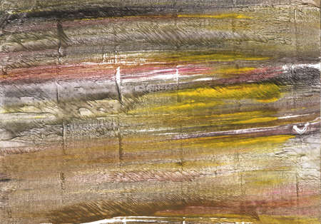 Hand-drawn abstract watercolor background. Used colors: Grullo, Dark vanilla, Raw umber, Shadow, Khaki, Metallic Sunburst, Beaver, Light taupe, Donkey brown, Dark liver Stock Photo