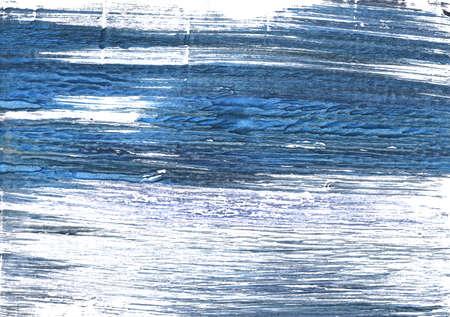 Handgetekende abstracte aquarelachtergrond. Gebruikte kleuren: Wit, Metaalblauw, Koninginblauw, Spookwit, Azuurachtig wit, Luchtmacht blauw, Alice blauw, UCLA Blauw, Glitter