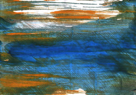 intermittent: Hand-drawn abstract watercolor background. Used colors: Dark slate gray, Japanese indigo, White, Yale Blue, Gray-asparagus, Army green, Metallic blue, Rifle green, Kombu green