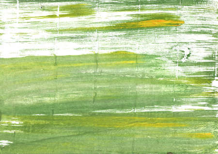Hand-drawn abstract watercolor background. Used colors: Olivine, White, Moss green, Medium spring bud, Asparagus, Middle Green Yellow, Dollar bill, Tea green, Baby powder