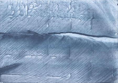 Streaked watercolor work made on paper. Light slate gray aquarelle art.