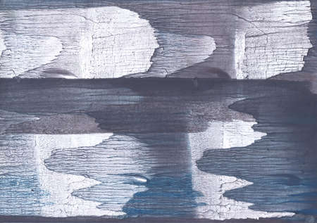 Nebulous watercolor work made on paper. Slate gray aquarelle painting.