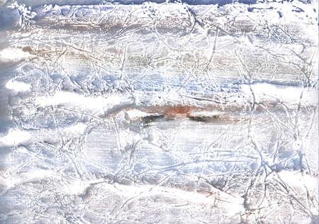 Blurred watercolor work made on paper sheet. Dark gray watercolor pattern. Фото со стока