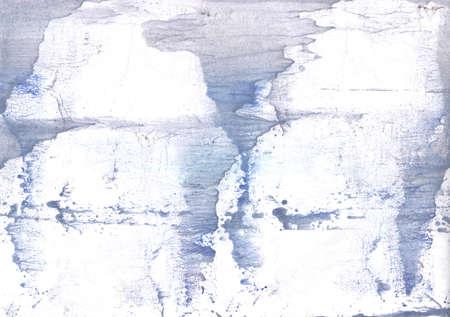 Vague work painted on paper sheet. Lavender aquarelle drawing.