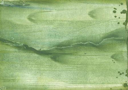 Colorful watercolor work drawn on paper. Dark sea green aquarelle art.