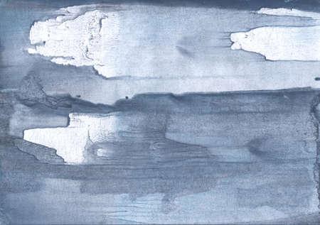 Aguarela colorida trabalho pintado na folha de papel. Desenho cinzento ardósia claro. Foto de archivo - 90965195
