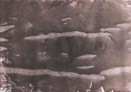 Streaked watercolor work painted on paper sheet. Dark slate gray aquarelle texture. Stock fotó