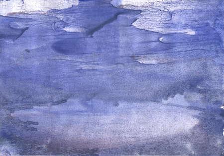 Vague work painted on paper sheet. Medium purple art.