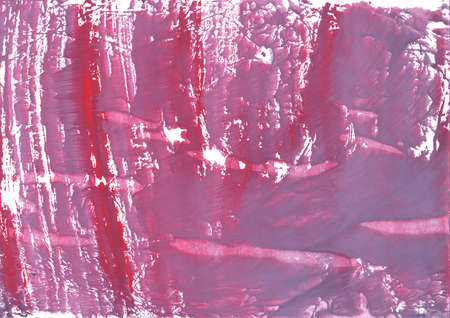 Hand-drawn watercolor painted on paper. Pale violet red texture.