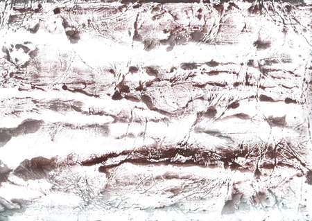 Vague work drawn on paper. Gray Brown aquarelle texture.