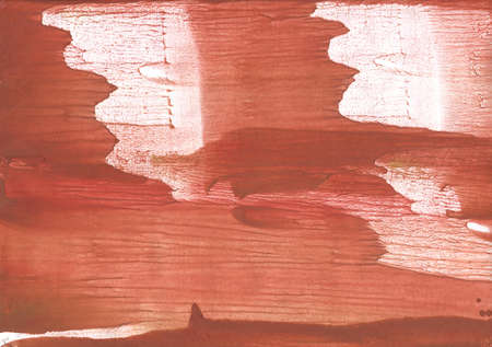 Vague watercolor painted on paper. Rowan red painting. Stock Photo