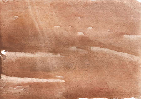 Colored watercolor drawn on paper sheet. Rosy brown picture.