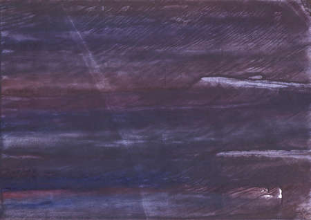 종이 시트에 그려진 줄무늬 수채화 작업. 어두운 보라색 수채화 그림입니다.