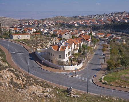 A picturesque suburbian neighbourhood of Jerusalem in Israel photo