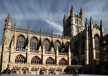 Typical gothic cathedral. This one is in City of Bath, England Stock Photo - 1305662