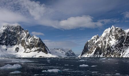 scot: View from the north into Lemaire Channel, Antarctica