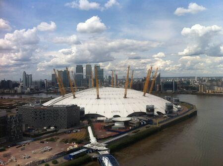 o2: Aerial view of East London