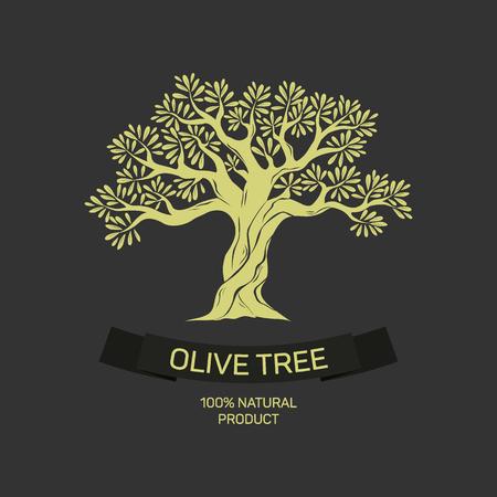 grafica olivo disegnato a mano