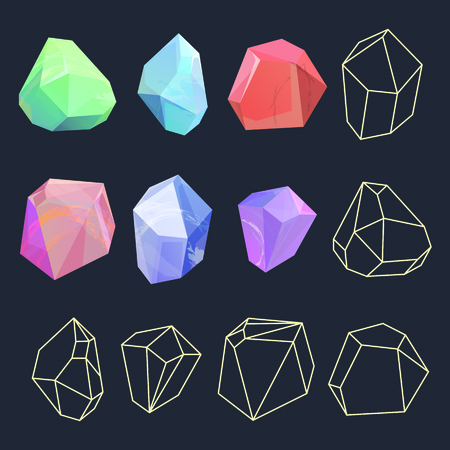 Design of crystal polygon shapes