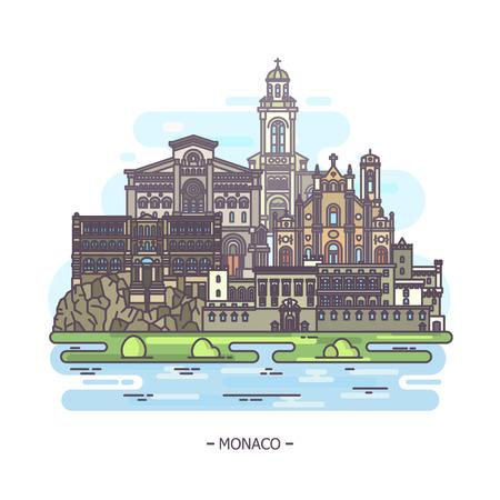 Monaco famous municipal and religious landmarks