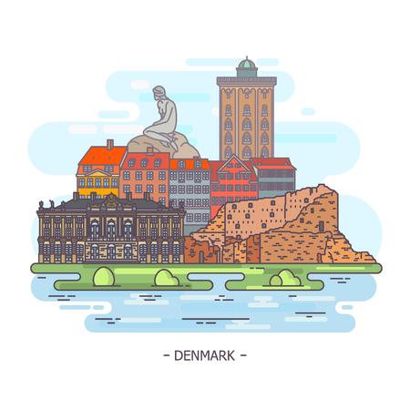 Famous historical monuments of Denmark. Landmarks