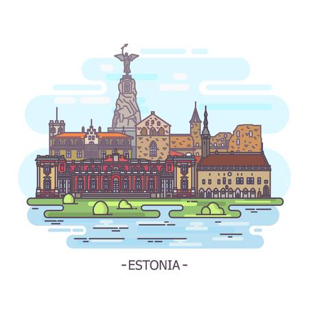 Wahrzeichen der Architektur Estlands. Estnische Denkmäler
