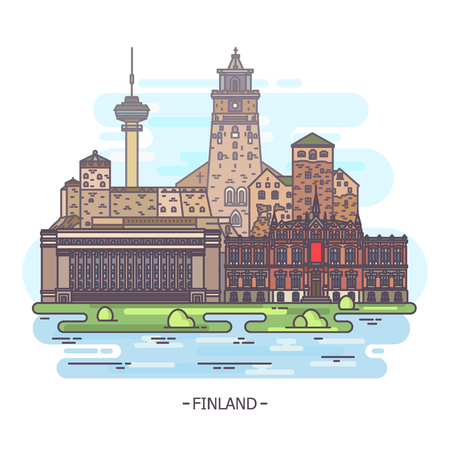 Famous Finland landmarks and Finnish monuments