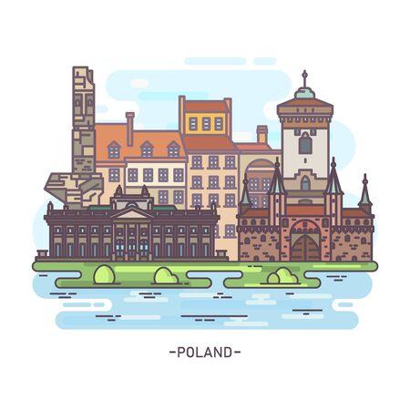 Scenic view on historical Polish, Poland landmark