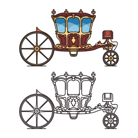 Isolated retro carriage or cab for marriage
