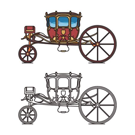 Medieval royal chariot for king or prince
