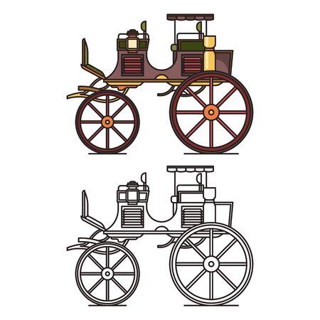 XIX century vehicle or retro carriage, buggy