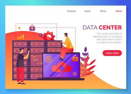 Centre de données, réseau de stockage de bases de données d'informations