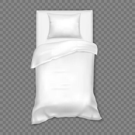 Cama blanca individual blanca para que duerma una persona