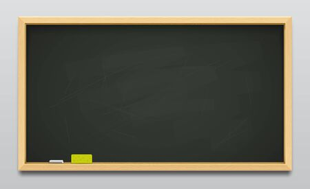 Dark green school blackboard or empty classboard