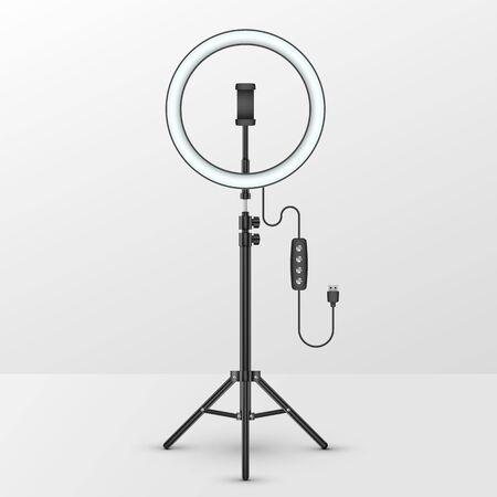 Studiolampe Lichtring, Selfie-Fotokamera-Stick